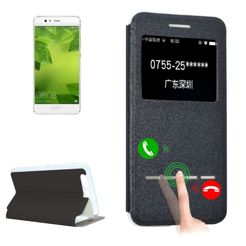 Buy Huawei P10 Plus Frosted Texture Horizontal Flip Leather Case with Call Display ID & SlideUnlock Slip & Holder, Black for $3.09 in SUNSKY store