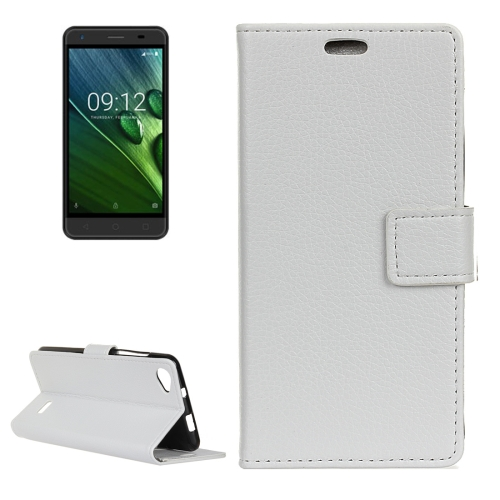 Buy For Acer Liquid Z6E Litchi Texture Horizontal Flip Leather Case with Holder & Card Slots & Wallet & Photo Frame, White for $3.20 in SUNSKY store