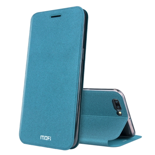 Buy MOFI OPPO R11 Frosted Texture Horizontal Flip Leather Case with Holder, Blue for $3.71 in SUNSKY store