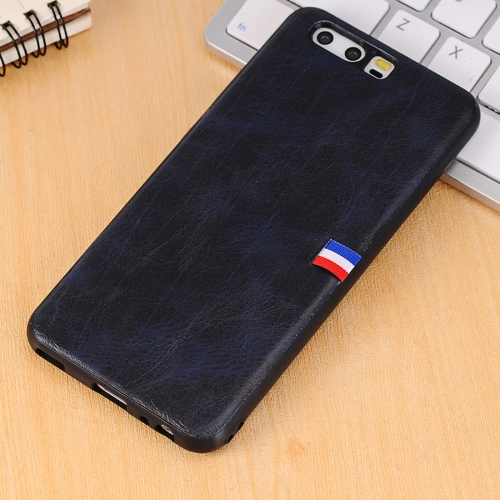 Buy Huawei P10 Plus PU Leather Crazy Horse Texture Flag Detail Protective Back Case, Blue for $2.29 in SUNSKY store