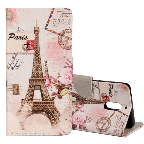Buy For Nokia 3 Eiffel Tower Pattern Horizontal Flip Leather Case with Holder & Card Slots & Wallet for $2.42 in SUNSKY store