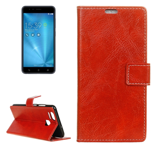 Buy For ASUS ZenFone 3 Zoom / ZE553KL Retro Crazy Horse Texture Horizontal Flip Leather Case with Holder & Card Slots & Wallet & Photo Frame, Red for $2.96 in SUNSKY store