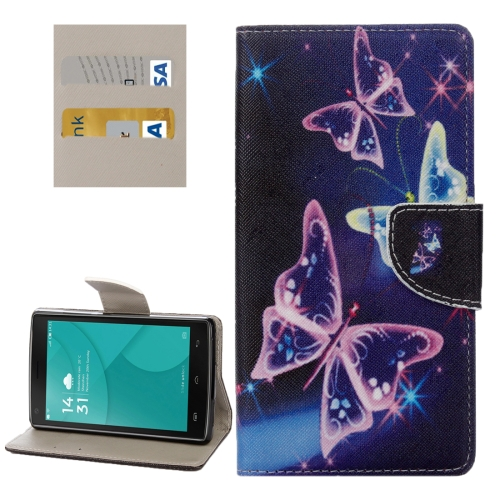 Buy For DOOGEE X5 Max / Max Pro Purple Crystal Butterflies Pattern Horizontal Flip Leather Case with Holder & Card Slots & Wallet for $2.28 in SUNSKY store