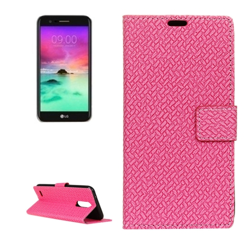 Buy For LG Stylo 3 Knit Texture Horizontal Flip Leather Case with Holder & Card Slots & Wallet & Photo Frame, Magenta for $3.19 in SUNSKY store