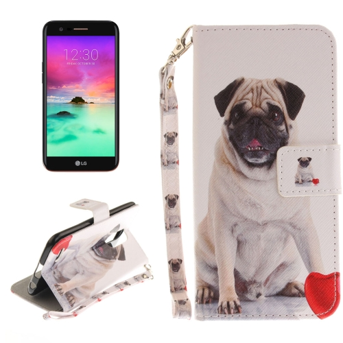 Buy For LG K10, 2017 Pug Pattern Horizontal Flip Leather Case with Holder & Card Slots & Wallet & Lanyard for $2.41 in SUNSKY store