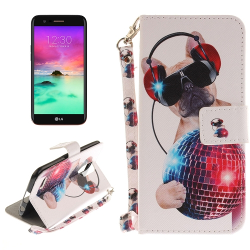 Buy For LG K10, 2017 Fashion Dog Pattern Horizontal Flip Leather Case with Holder & Card Slots & Wallet & Lanyard for $2.52 in SUNSKY store