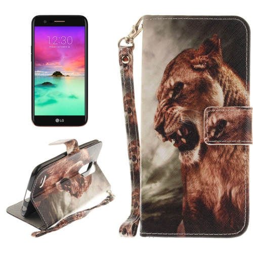 Buy For LG K10, 2017 Lion Pattern Horizontal Flip Leather Case with Holder & Card Slots & Wallet & Lanyard for $2.41 in SUNSKY store