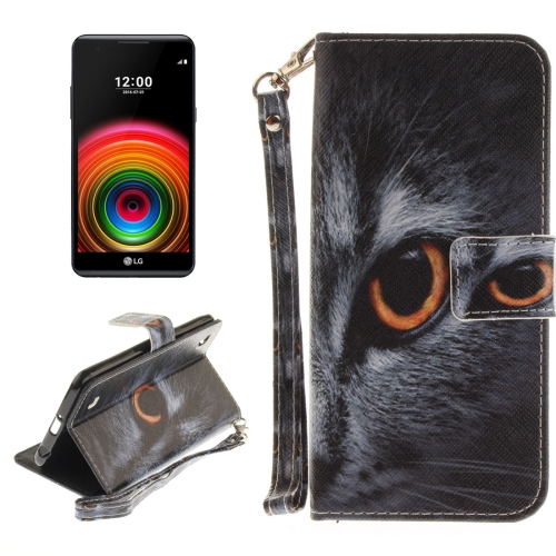 Buy For LG X Power Half Face Cat Pattern Horizontal Flip Leather Case with Holder & Card Slots & Wallet & Lanyard for $2.39 in SUNSKY store