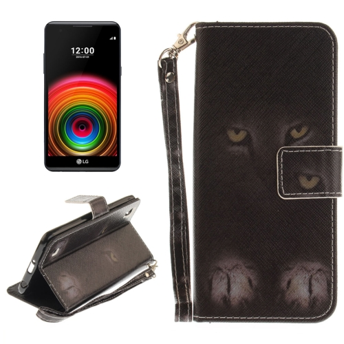 Buy For LG X Power Mysterious Cat Pattern Horizontal Flip Leather Case with Holder & Card Slots & Wallet & Lanyard for $2.52 in SUNSKY store