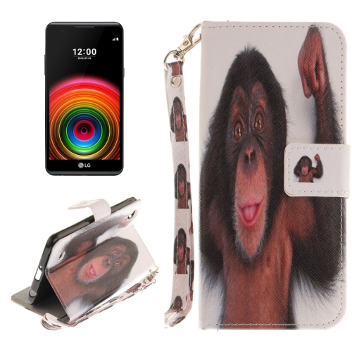 Buy For LG X Power Monkey Pattern Horizontal Flip Leather Case with Holder & Card Slots & Wallet & Lanyard for $2.53 in SUNSKY store