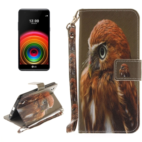 For LG X Power Eagle Pattern Horizontal Flip Leather Case with Holder & Card Slots & Wallet & Lanyard