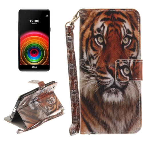 Buy For LG X Power Tiger Pattern Horizontal Flip Leather Case with Holder & Card Slots & Wallet & Lanyard for $2.53 in SUNSKY store