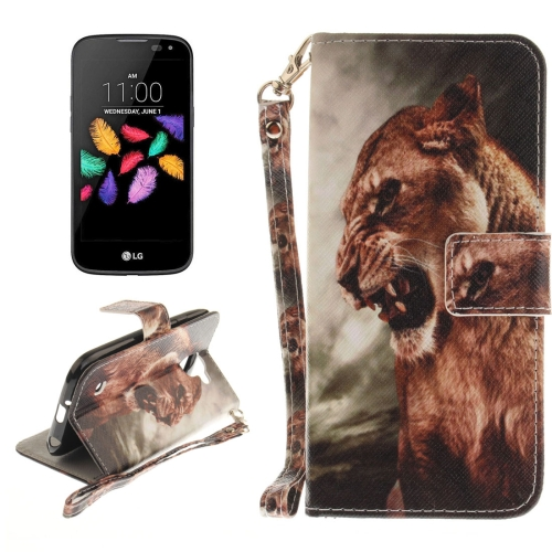 Buy For LG K3, 2017 Lion Pattern Horizontal Flip Leather Case with Holder & Card Slots & Wallet & Lanyard for $2.53 in SUNSKY store