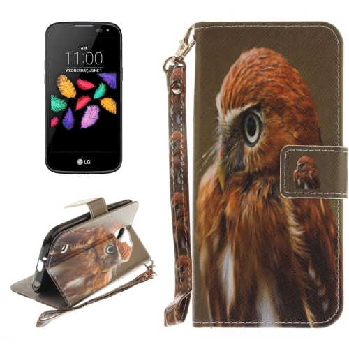 Buy For LG K3, 2017 Eagle Pattern Horizontal Flip Leather Case with Holder & Card Slots & Wallet & Lanyard for $2.53 in SUNSKY store