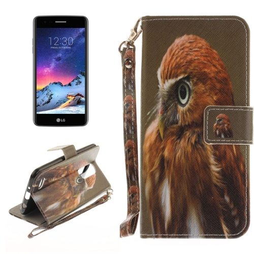 Buy For LG K8, 2017 (EU Version) Eagle Pattern Horizontal Flip Leather Case with Holder & Card Slots & Wallet & Lanyard for $2.53 in SUNSKY store