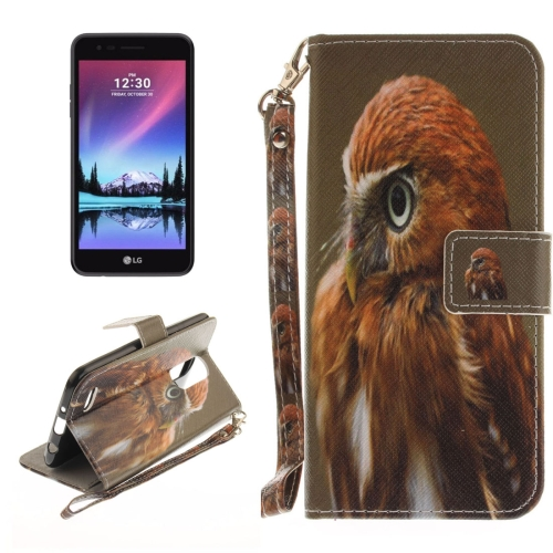Buy For LG K4, 2017 (EU Version) Eagle Pattern Horizontal Flip Leather Case with Holder & Card Slots & Wallet & Lanyard for $2.53 in SUNSKY store