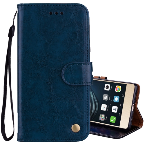 Buy For Huawei P9 Lite Business Style Oil Wax Texture Horizontal Flip Leather Case with Holder & Card Slots & Wallet, Blue for $2.36 in SUNSKY store