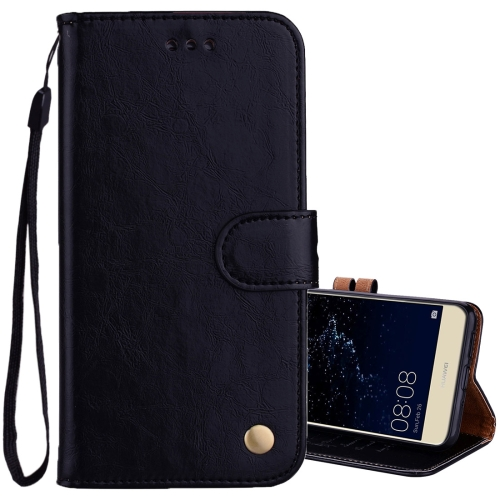 Buy For Huawei P10 Lite Business Style Oil Wax Texture Horizontal Flip Leather Case with Holder & Card Slots & Wallet, Black for $1.74 in SUNSKY store