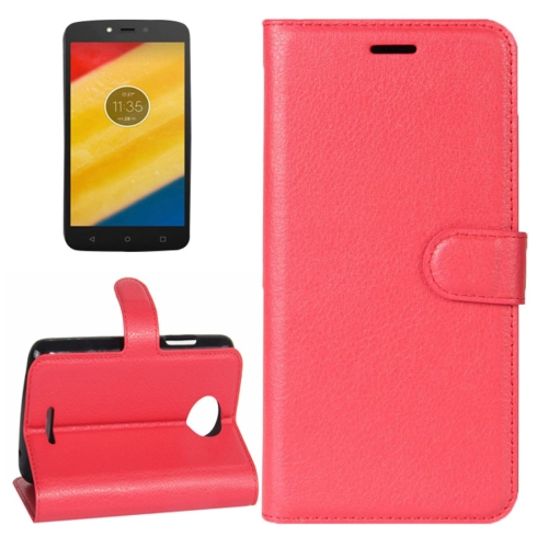 Buy For Motorola Moto C Litchi Texture Horizontal Flip Leather Case with Holder & Card Slots & Wallet, Red for $2.30 in SUNSKY store