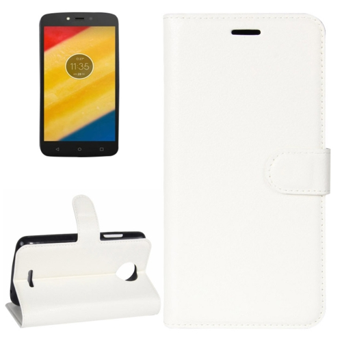 Buy For Motorola Moto C Litchi Texture Horizontal Flip Leather Case with Holder & Card Slots & Wallet, White for $2.30 in SUNSKY store