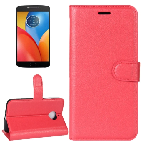 Buy For Motorola Moto E4 Plus Litchi Texture Horizontal Flip Leather Case with Holder & Card Slots & Wallet, Red for $2.30 in SUNSKY store