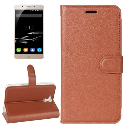 Buy For Blackview P2 Litchi Texture Horizontal Flip Leather Case with Holder & Card Slots & Wallet, Brown for $2.42 in SUNSKY store