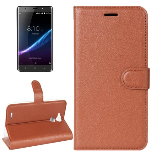 Buy For Blackview R6 Litchi Texture Horizontal Flip Leather Case with Holder & Card Slots & Wallet, Brown for $2.42 in SUNSKY store