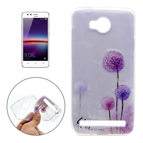Buy For Huawei Y3 II Dandelion Pattern Transparent Soft TPU Protective Back Cover Case for $1.16 in SUNSKY store