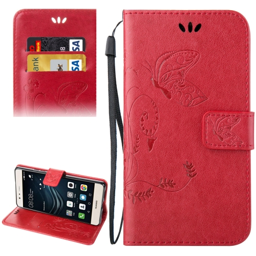 Buy Huawei P9 Lite Crazy Horse Texture Printing Horizontal Flip Leather Case with Holder & Card Slots & Wallet & Lanyard, Red for $2.44 in SUNSKY store