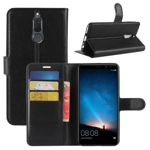 For Huawei Mate 10 Lite Litchi Texture PU + TPU Horizontal Flip Leather Case with Holder & Card Slots & Wallet(Black) фото