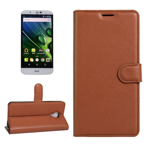 Buy For Acer Liquid Z6 Plus Litchi Texture Horizontal Flip PU Leather Case with Holder & Card Slots & Wallet, Brown for $2.33 in SUNSKY store