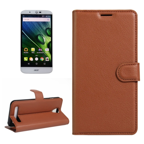 Buy For Acer Liquid Z6 Litchi Texture Horizontal Flip PU Leather Case with Holder & Card Slots & Wallet, Brown for $2.33 in SUNSKY store