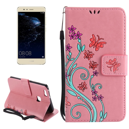 Buy Huawei P10 Lite Painted Butterfly Pattern Horizontal Flip Leather Case with Holder & Card Slots & Wallet & Lanyard, Pink for $2.91 in SUNSKY store