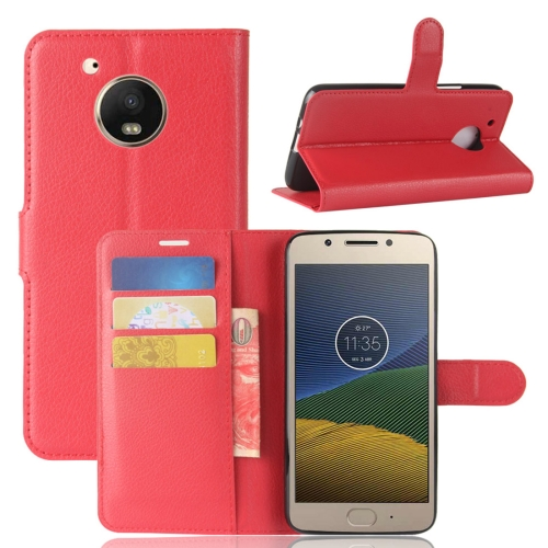 Buy For Motorola Moto E4 Plus (US Version) Litchi Texture Horizontal Flip Leather Case with Holder & Card Slots & Wallet, Red for $2.41 in SUNSKY store