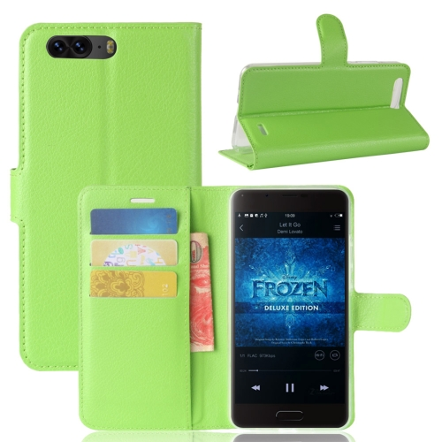 Buy Blackview P6 Litchi Texture Horizontal Flip Leather Case with Holder & Card Slots & Wallet,Small Quantity Recommended before Blackview P6 Launching, Green for $2.67 in SUNSKY store