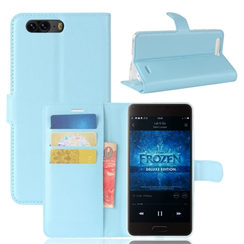 Buy Blackview P6 Litchi Texture Horizontal Flip Leather Case with Holder & Card Slots & Wallet,Small Quantity Recommended before Blackview P6 Launching, Blue for $2.67 in SUNSKY store