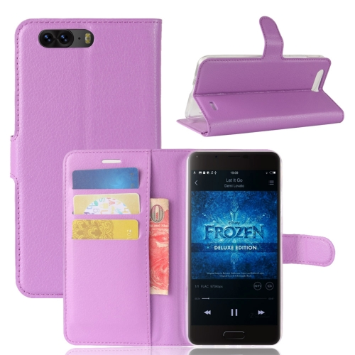 Buy Blackview P6 Litchi Texture Horizontal Flip Leather Case with Holder & Card Slots & Wallet,Small Quantity Recommended before Blackview P6 Launching, Purple for $2.67 in SUNSKY store