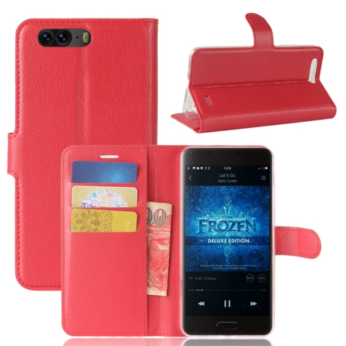 Buy Blackview P6 Litchi Texture Horizontal Flip Leather Case with Holder & Card Slots & Wallet,Small Quantity Recommended before Blackview P6 Launching, Red for $2.67 in SUNSKY store