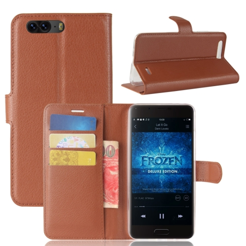 Buy Blackview P6 Litchi Texture Horizontal Flip Leather Case with Holder & Card Slots & Wallet,Small Quantity Recommended before Blackview P6 Launching, Brown for $2.67 in SUNSKY store