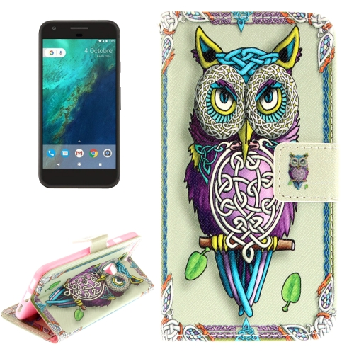 Buy For Google Pixel Owl Pattern Horizontal Flip Leather Case with Holder & Card Slots & Wallet for $2.52 in SUNSKY store