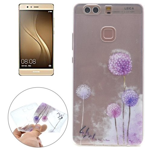 Buy For Huawei P9 Plus Dandelion Pattern Transparent Soft TPU Protective Back Cover Case for $1.16 in SUNSKY store