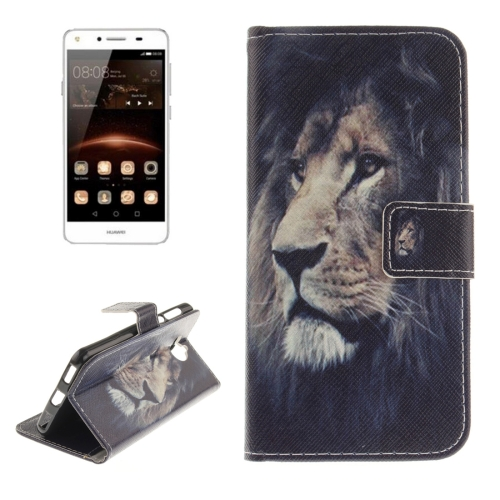 Buy Huawei Y5, 2017 Lion Pattern Horizontal Flip Leather Case with Holder & Card Slots & Wallet for $2.68 in SUNSKY store