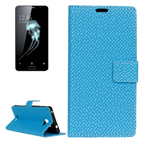 Buy For Alcatel Flash Plus 2 Weaving Texture Horizontal Flip PU Leather Case with Magnetic Buckle & Holder & Card Slots & Wallet & Photo Frame, Blue for $3.19 in SUNSKY store