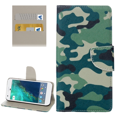 Buy For Google Pixel Camouflage Pattern Horizontal Flip Leather Case with Holder & Card Slots & Wallet for $2.31 in SUNSKY store