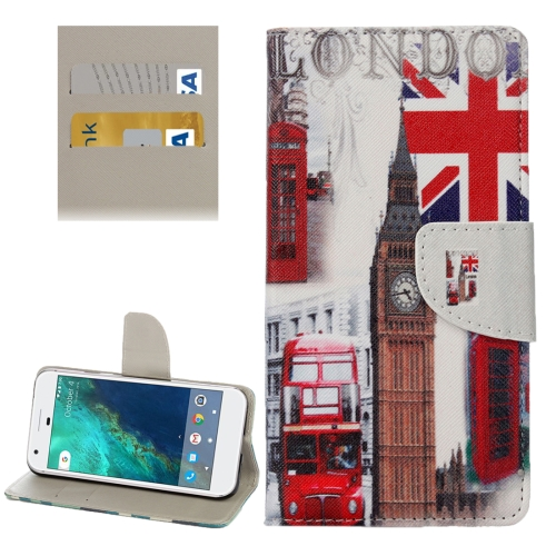 Buy For Google Pixel London Big Ben Pattern Horizontal Flip Leather Case with Holder & Card Slots & Wallet for $2.31 in SUNSKY store