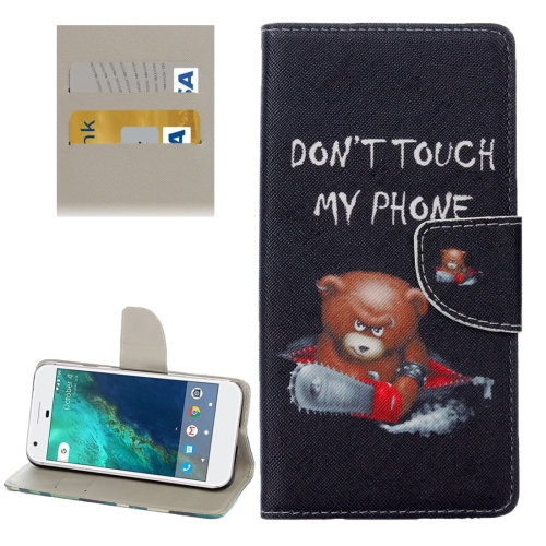 For Google Pixel Little Bear Pattern Horizontal Flip Leather Case with Holder & Card Slots & Wallet