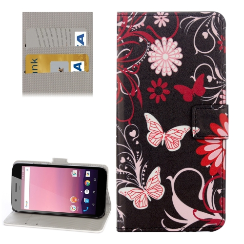 Buy For Google Pixel XL Black Butterfly Pattern Leather Case with Holder & Card Slots & Wallet for $2.31 in SUNSKY store