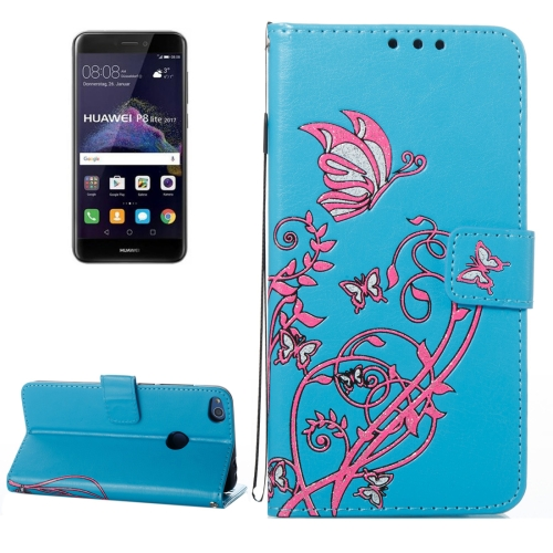 Buy Huawei P8 Lite, 2017 Voltage Crazy Horse Texture Horizontal Flip Leather Case with Holder & Card Slots & Wallet & Lanyard, Blue for $2.68 in SUNSKY store