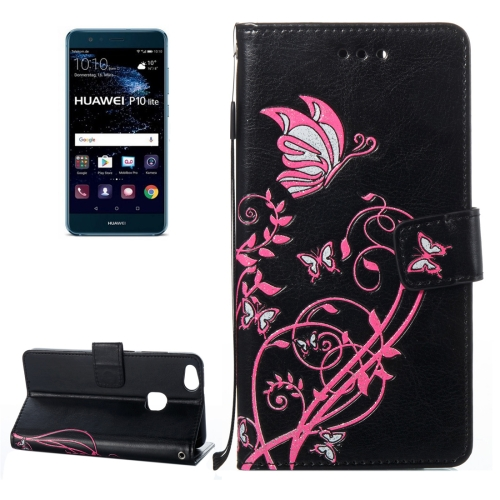 Buy Huawei P10 Lite Voltage Crazy Horse Texture Horizontal Flip Leather Case with Holder & Card Slots & Wallet & Lanyard, Black for $2.68 in SUNSKY store