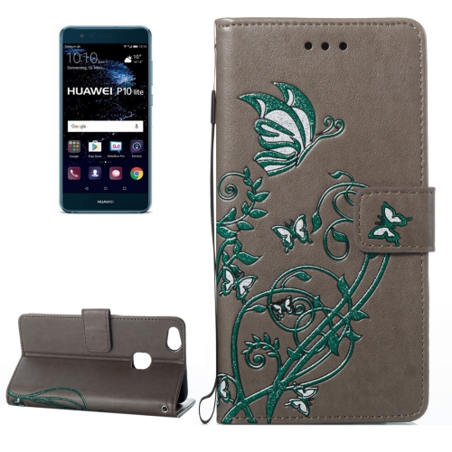 Buy Huawei P10 Lite Voltage Crazy Horse Texture Horizontal Flip Leather Case with Holder & Card Slots & Wallet & Lanyard, Grey for $2.68 in SUNSKY store